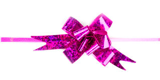 Pink ribbon and bow Stock Images