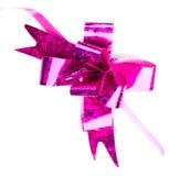 Pink  ribbon and bow Stock Photos