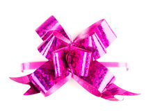 Pink  ribbon and bow Royalty Free Stock Image
