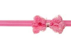 Pink ribbon bow Stock Image