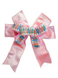 Pink ribbon bow with isolated Stock Images