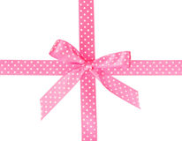 Pink ribbon with bow Royalty Free Stock Photo