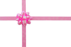 Pink ribbon and bow. Royalty Free Stock Photos