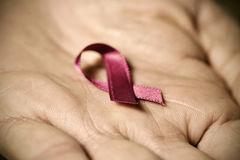 Pink ribbon for the breast cancer awareness Royalty Free Stock Image