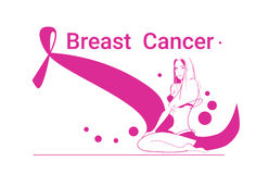 Pink Ribbon Breast Cancer Awareness Female Body Royalty Free Stock Photo