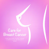 Pink ribbon breast cancer awareness symbol icon  illustrat. Pink ribbon breast cancer awareness symbol icon, isolated on pink background.  eps10 illustration for Royalty Free Stock Photos