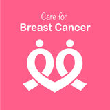 Pink ribbon breast cancer awareness symbol icon vector illustrat Stock Photography