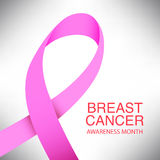 Pink ribbon breast cancer awareness symbol icon vector illustrat. Pink ribbon breast cancer awareness symbol icon, isolated on grey background. vector eps10 Royalty Free Stock Photo