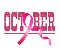 Pink ribbon, breast cancer awareness symbol,  illustration. Pink ribbon, breast cancer awareness symbol Stock Photo