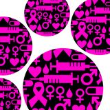 Pink ribbon, breast cancer awareness symbol. Vector illustration Royalty Free Stock Photos