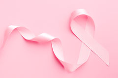 Pink ribbon breast cancer Royalty Free Stock Image