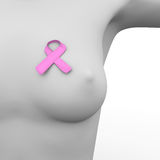Pink ribbon breast cancer Royalty Free Stock Photo