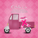 Pink ribbon for Breast cancer prevention Stock Images