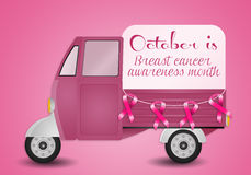 Pink ribbon for Breast cancer prevention Stock Image