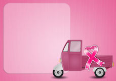 Pink ribbon for Breast cancer prevention Stock Photography