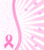 Pink ribbon breast cancer support background Royalty Free Stock Photo