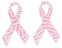 Pink Ribbon campaign - Breast Cancer campign Stock Photos