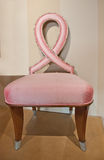 Pink Ribbon Chair Stock Photography