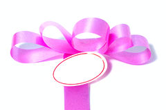 Pink ribbon with clipping path Stock Image