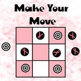 Pink ribbon contest. Pink and black game pieces on board illustration Stock Images