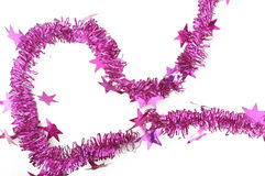 Pink ribbon garland Royalty Free Stock Image