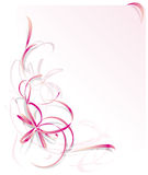 Pink Ribbon Greeting Card royalty free stock photo