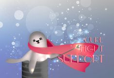 Pink Ribbon Illustration Royalty Free Stock Images