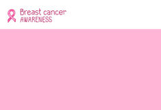Pink ribbon, international symbol of breast cancer awareness Stock Photography
