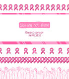 Pink ribbon, international symbol of breast cancer awareness Stock Image