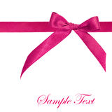 Pink ribbon isolated Stock Image