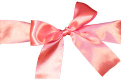 Pink ribbon isolated Stock Photos