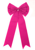 Pink ribbon isolated on white Stock Images