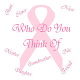 Pink ribbon memory Stock Images