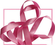 Pink ribbon over white background, design element. Stock Images