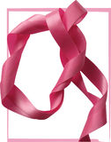 Pink ribbon over white background, design element. Stock Photo