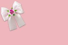 Pink ribbon on pink background Royalty Free Stock Images
