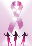 Pink Ribbon Poster 2 Stock Photos