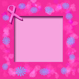 Pink ribbon scrapbook Stock Photo