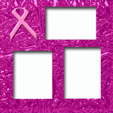 Pink ribbon scrapbook Royalty Free Stock Photography