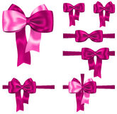 Pink ribbon set Stock Photography
