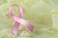 Pink ribbon sign. Royalty Free Stock Photos