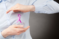 Pink Ribbon - Support Breast Cancer Awareness Stock Images