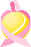 Pink Ribbon Tennis Heart Stock Photos