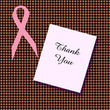 Pink ribbon thanks Stock Images