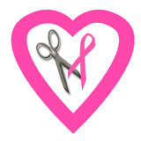 Pink ribbon volunteer Royalty Free Stock Image