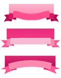 Pink ribbon web banner Royalty Free Stock Image
