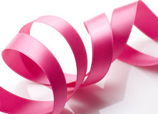 Pink Ribbon on White Royalty Free Stock Photography