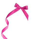 Pink ribbon on white  background with space Stock Image