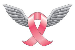 Pink Ribbon With Wings Royalty Free Stock Images