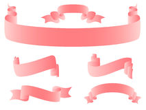 Pink ribbons Royalty Free Stock Image